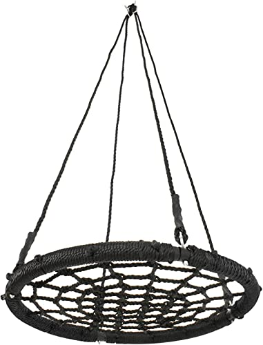 ZENY Outdoor 24 Spider Web Tree Swing Seat Heavy Duty Playground Platform Swing Nylon Rope Detachable Complete Set,Outdoor Hanging Play Slide Seat