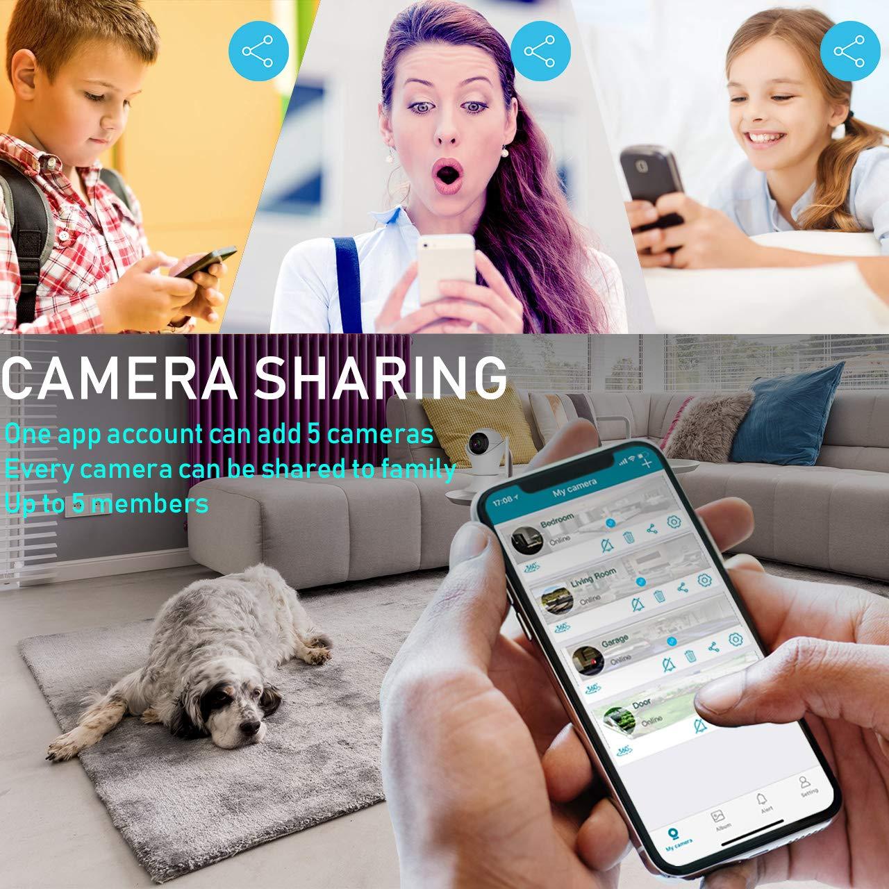Amazon com : HD 1080p Wireless Indoor Security Camera, 2 4G