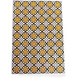 LOWYA ラグ ラグマット カーペット 床暖房可 花柄 絨毯 長方形 160×230cm イエロー