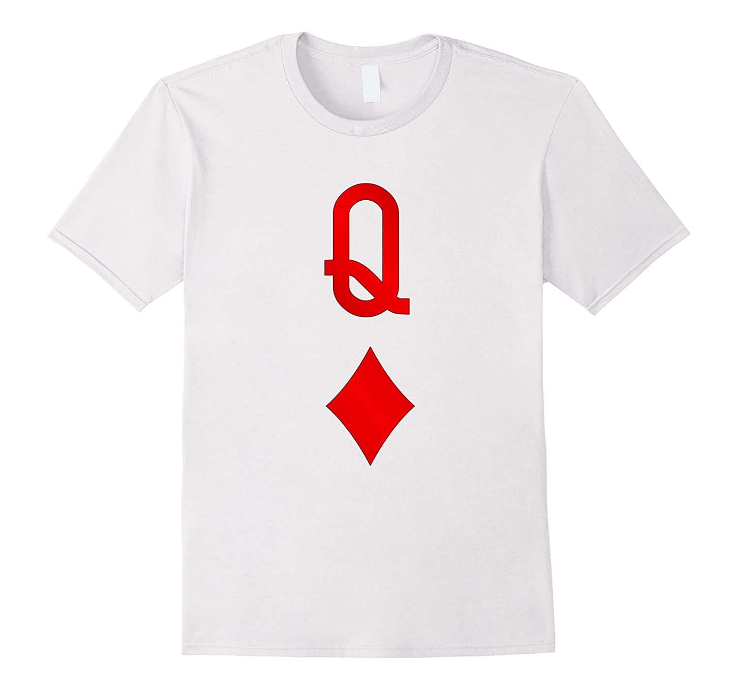 Playing Cards Costume Halloween Queen Of Diamonds Tee Shirt Art