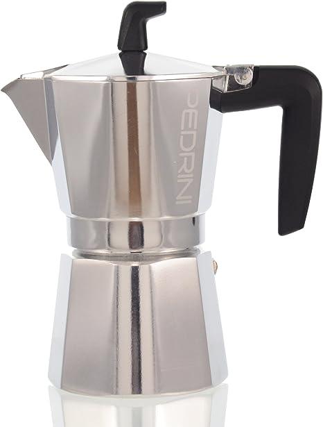 Pedrini Sei Moka - Cafetera italiana de 2 tazas (incluye filtro y 3 gomas de recambio): Amazon.es: Hogar