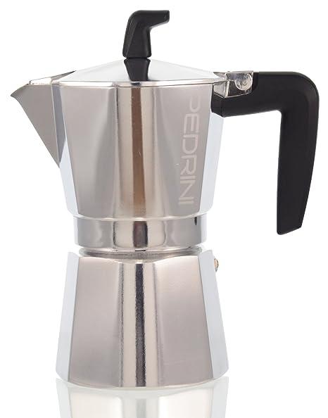 """Bialetti /""""1/oder 2 Tassen/""""/schwarzer Kunststoff-Handgriff f/ür Moka Express Espressokanne."""