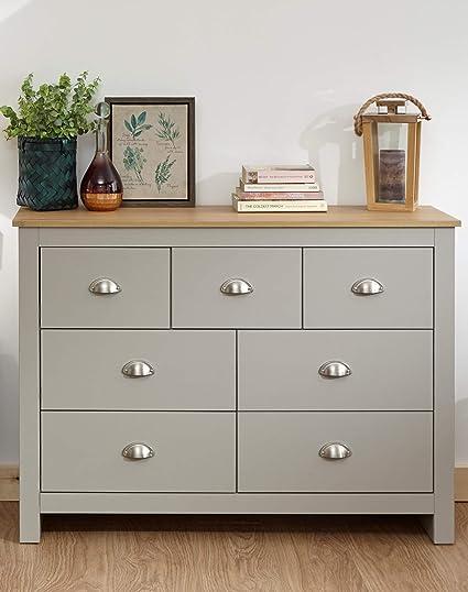 Terrific Lancaster Grey Or Cream Bedroom Sets 3 Or 4 Piece Wardrobe Chest Bedside Desk Home Interior And Landscaping Ponolsignezvosmurscom