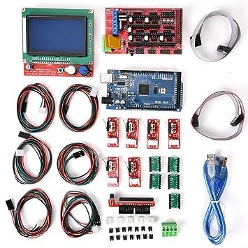 ASHATA Kit Accesorios de Impresora 3D,A4988 Controlador de ...