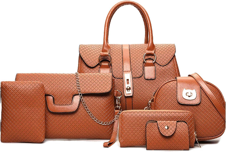 6 Pcs Bags Set Leather...