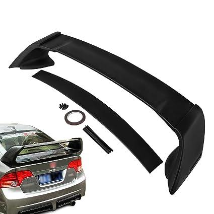 Shark Fin Universal ABS Car Lower Rear Bumper Lip Diffuser Spoiler Black S GW