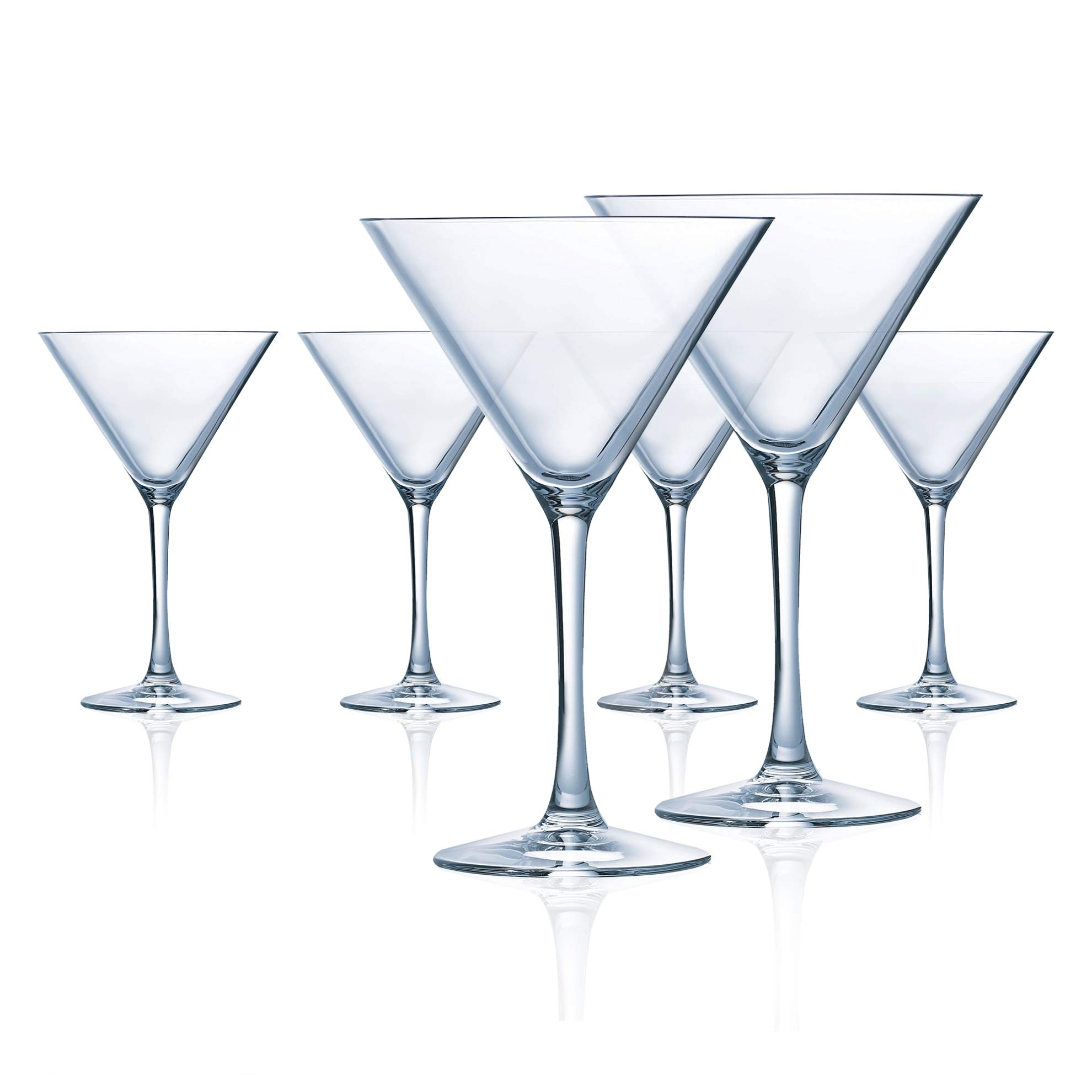 Chef & Sommelier L9225 Grand Vin 10.25 Ounce Martini, Set of 6, 10.25 oz, Clear