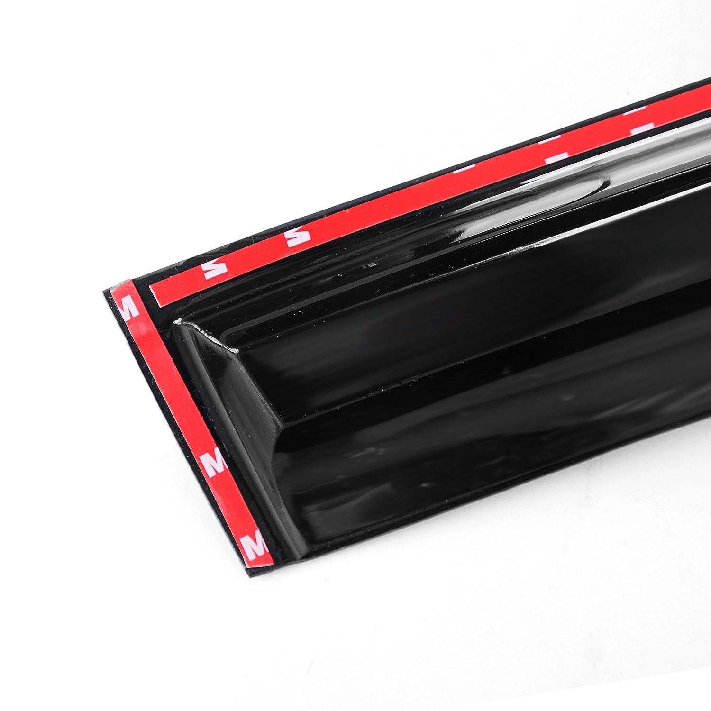 Mazda 5 06-10 Side Tape-on Window Vent Visor Sun Rain Deflector Guard 4-Pieces