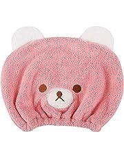 Gorro de baño Niñas toalla de baño secador turbante de microfibra, diseño de oso Mignon