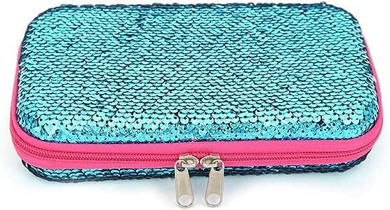 UEIRINDA - Estuche de Lentejuelas para lápices de Goma EVA, Material Escolar, Bolsa de cosméticos, Regalo de cumpleaños: Amazon.es: Hogar