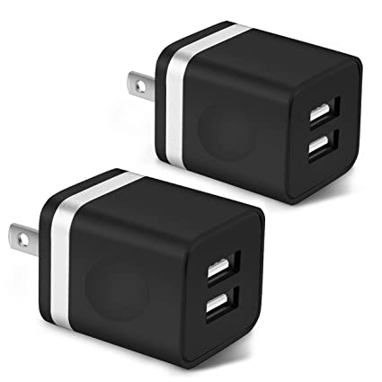 Amazon.com: STELECH USB Wall Charger, 2-Pack 2.1A/5V Dual ...