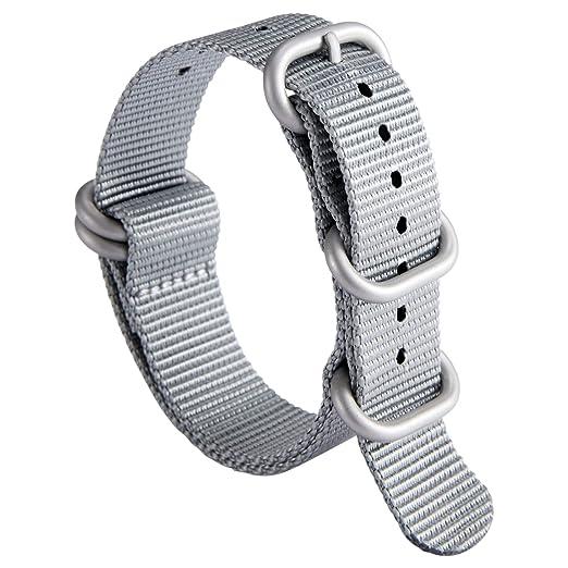 NATO Zulu Correa de Reloj G10 Premium Nylon Balístico Reemplazo de ...