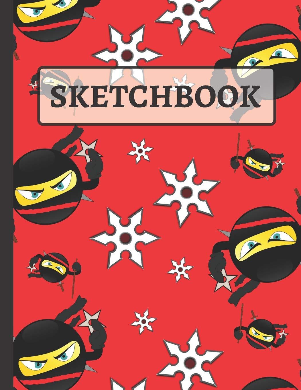 Sketchbook: Emoji Ninja with Throwing Stars Sketchbook to ...