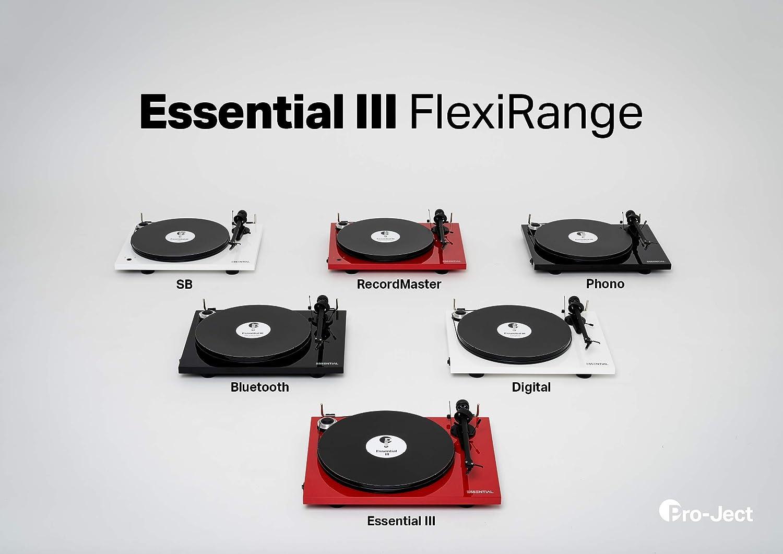 Pro-Ject Essential III - Tocadiscos (Tocadiscos de tracción por ...