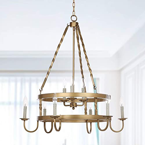 Safavieh Lighting Collection Crowley 31 Adjustable Chandelier, Gold