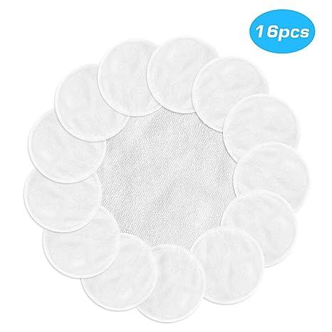 MASCARRY Almohadillas desmaquilladoras reutilizables con lavadero, 16 paquetes de toallitas de tela de algodón de