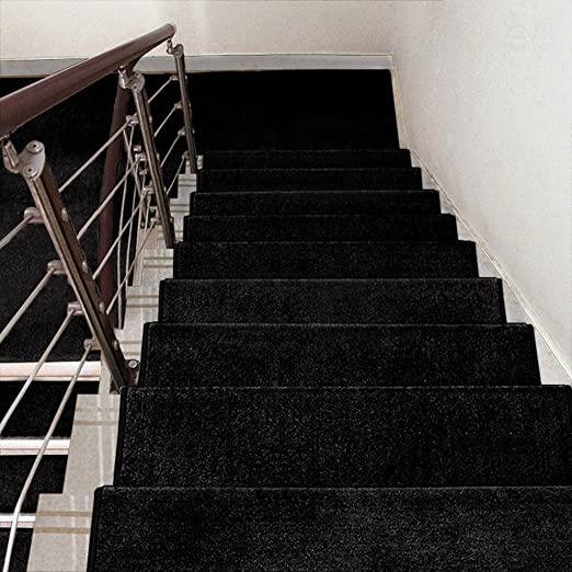 BBYE Adhesivo Libre Autoadhesivo Alfombra Antideslizante para Escaleras Alfombra Extra Espesa para Hogares De Madera Sólida (Color : # 6, Tamaño : 65 * 24cm-A): Amazon.es: Hogar