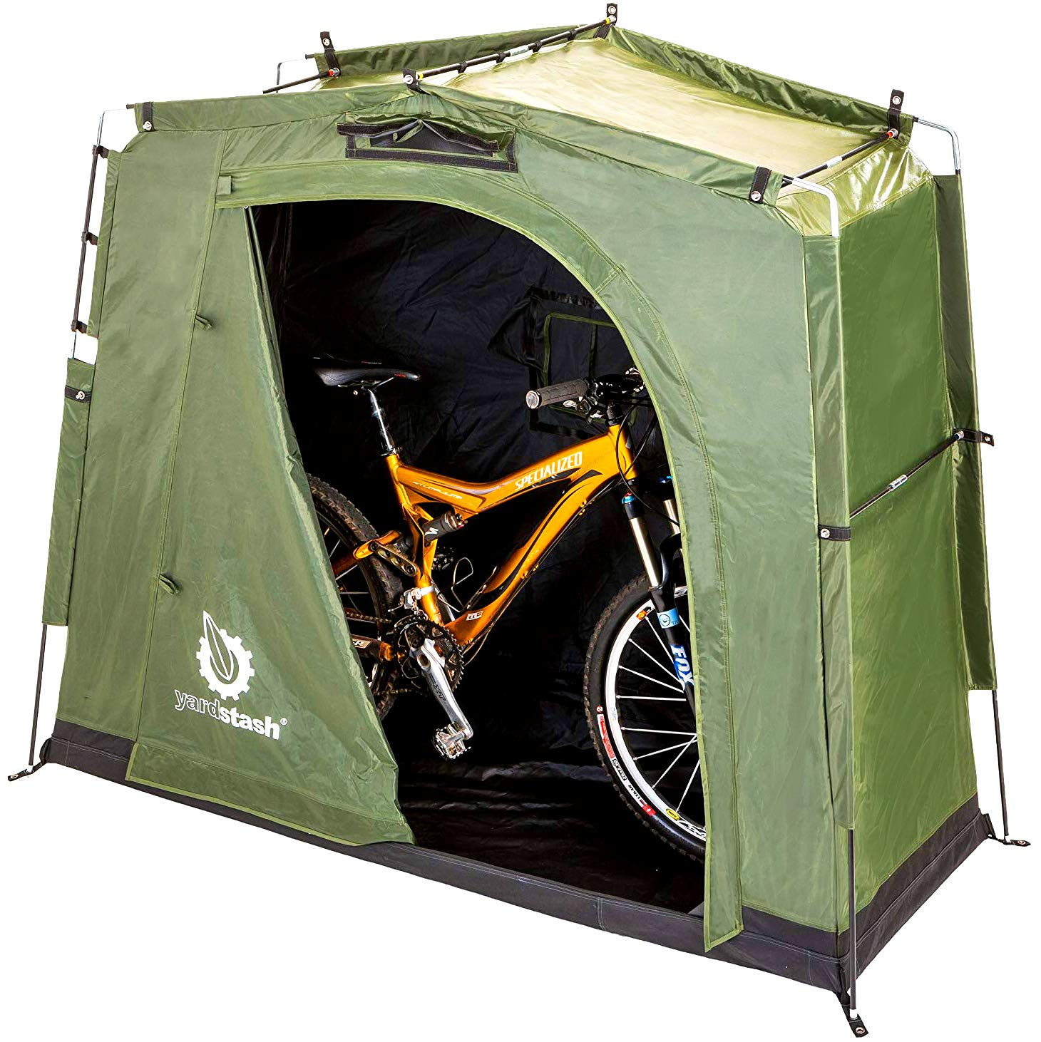 The YardStash III: Space Saving Outdoor Bike Storage, Garden Storage and Pool Storage by YardStash