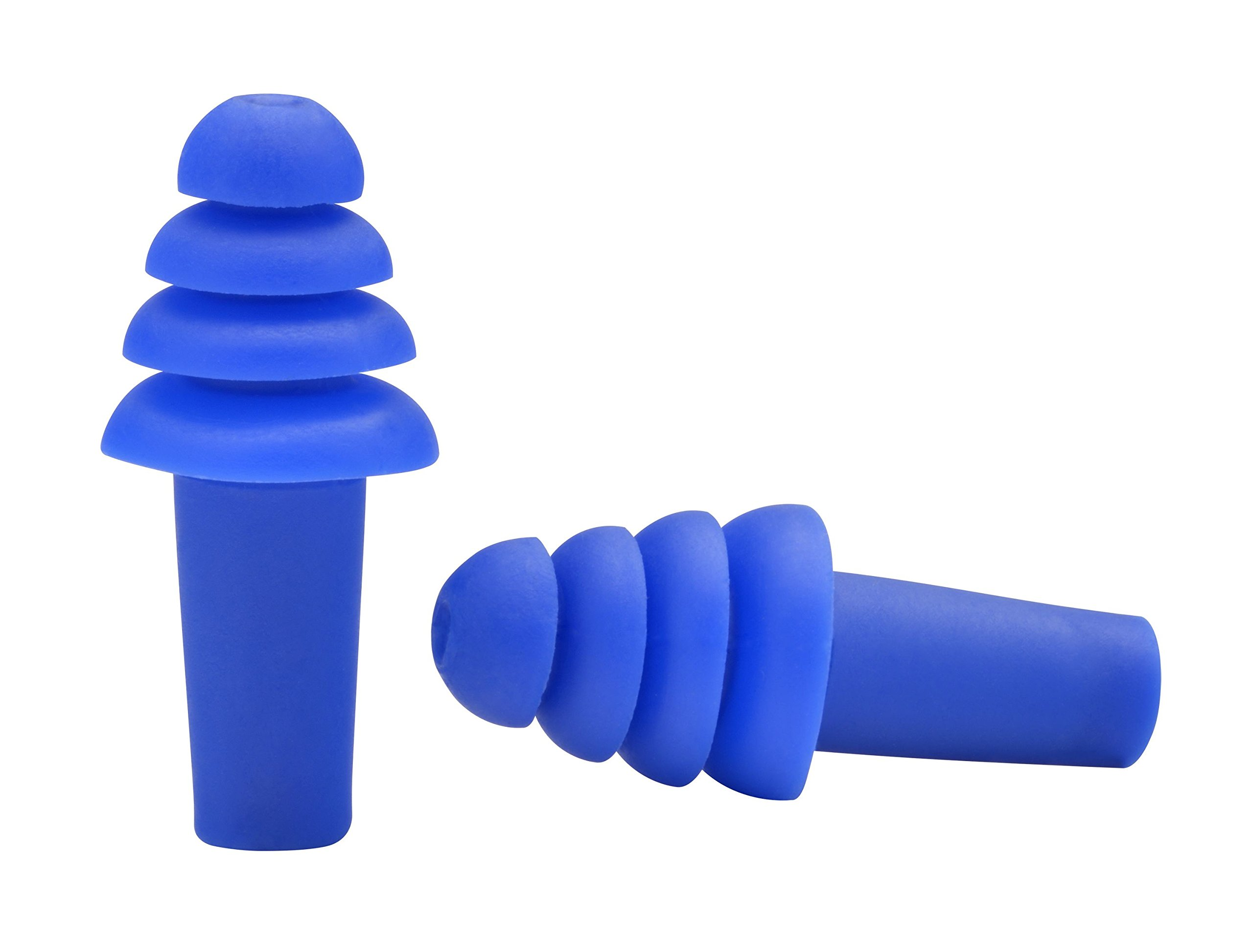 Elvex EP-401 Quattro Ear Plugs, Blue (Pack of 100) by Elvex (Image #1)