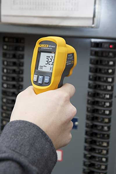 Fluke 62 MAX  Infrared Thermometer supports Large Backlit display that makes it easier to read data, even in dark areas
