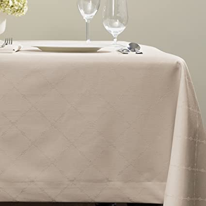 Juliet By Sferra   Oblong Tablecloth 70x90 (Taupe)