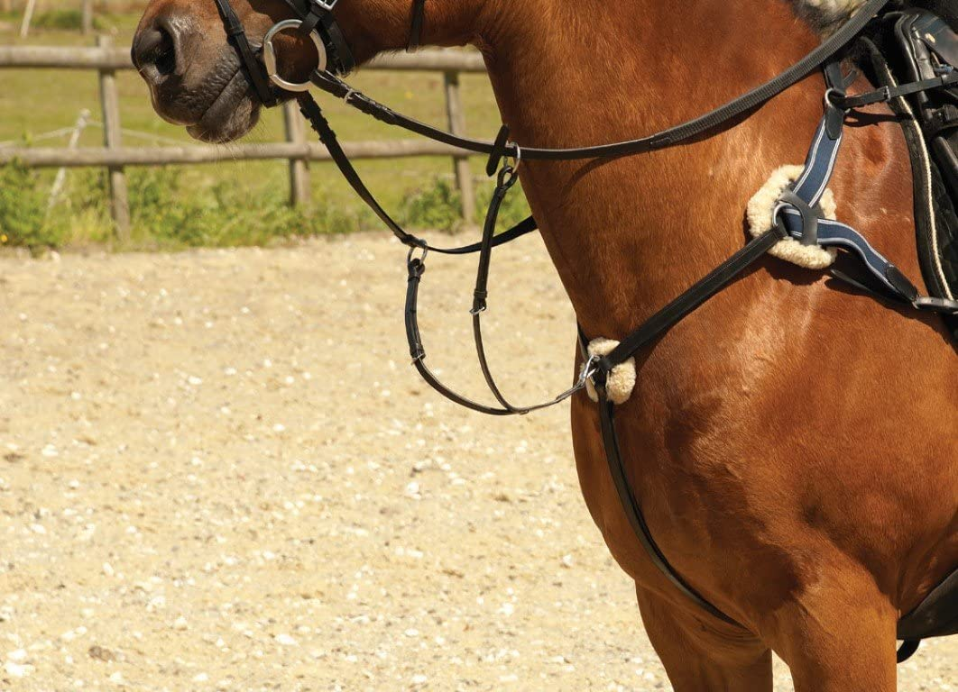 Windsor Equestrian Horses Leather 5 Point Breastplate