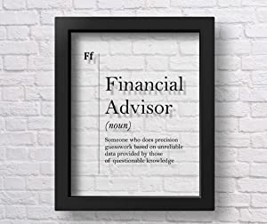 Marchak Transparent Financial Advisor Definition Poster, Bank Worker Gift, Office Wall Decor, Economist Gift