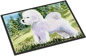 Caroline's Treasures SS8900MAT Bichon Frise Indoor Outdoor Mat 18x27 Doormat, 18H X 27W, Multicolor