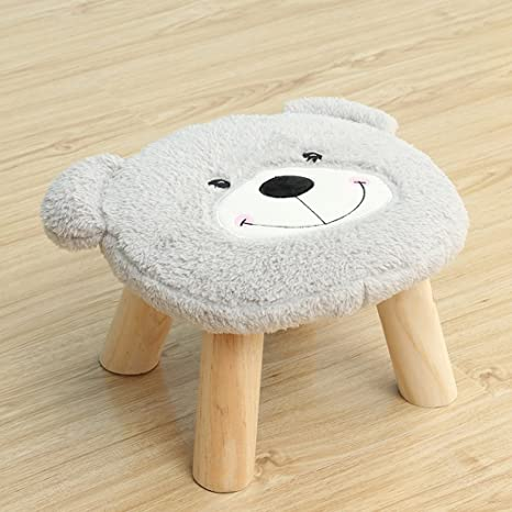 Astonishing Amazon Com Cjh Wooden Stool Cartoon Bear Childrens Small Ocoug Best Dining Table And Chair Ideas Images Ocougorg