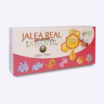 GHF - Jalea Real Infantil Forte, Sabor Fresa, 20 ampollas, 10 ml