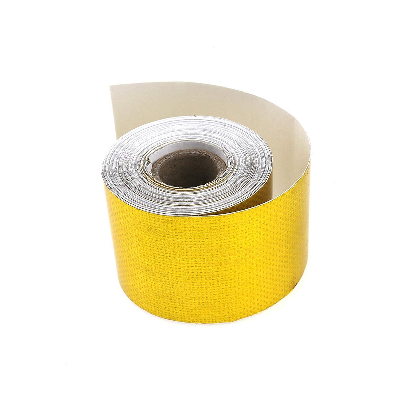 ENET Adh/ésif R/éfl/échissant Bouclier denveloppe Tuyau de Bande Isolation Thermique de Feuille 50mm x 10m