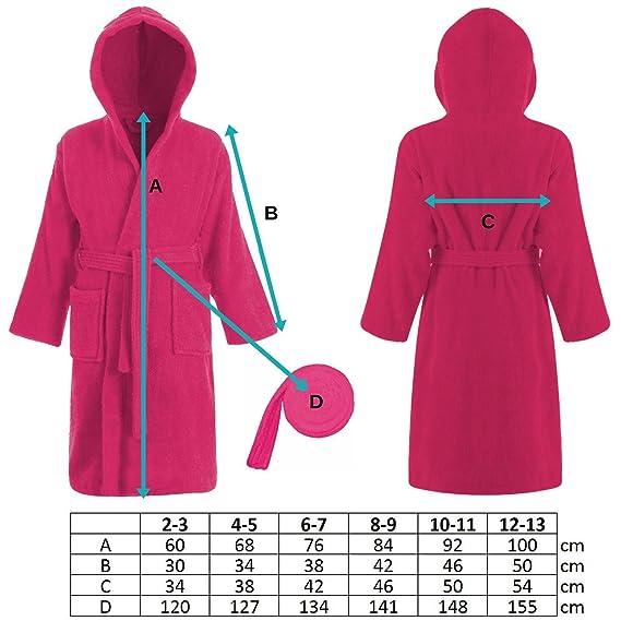 05261fb6ad Kids 100 % Cotton Bathrobe Hooded Terry Towelling Shawl Collar Bath Robe  Bath Robe Dressing