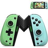 ECHTPower Mandos para Nintendo Switch, Bluetooth Wireless Gamepad, Botón Macro/Turbo/Vibración/Función de 6-Axis…