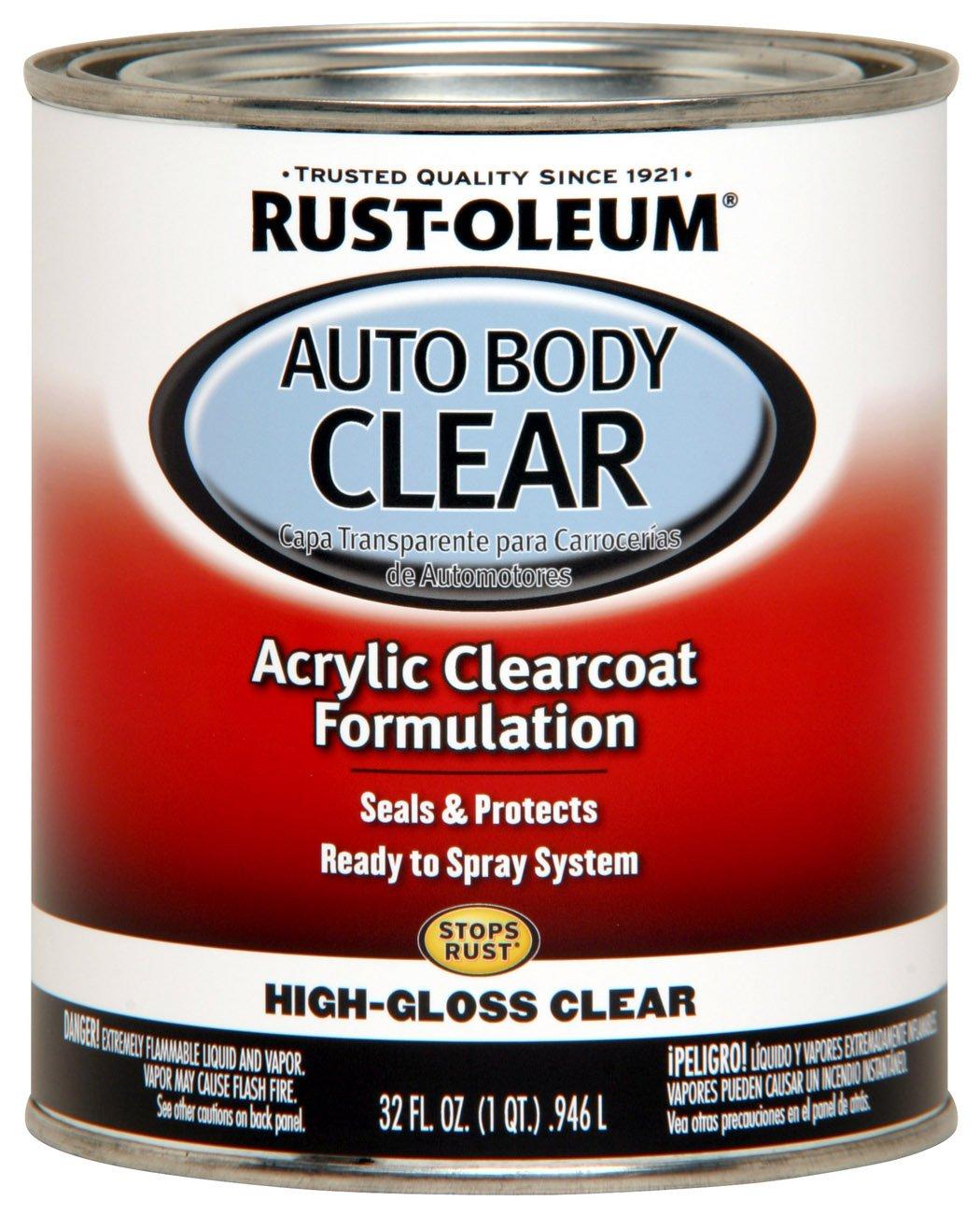 Rust-Oleum Automotive 253522 32-Ounce Autobody Paint Quart, Gloss Clear Coat by Rust-Oleum