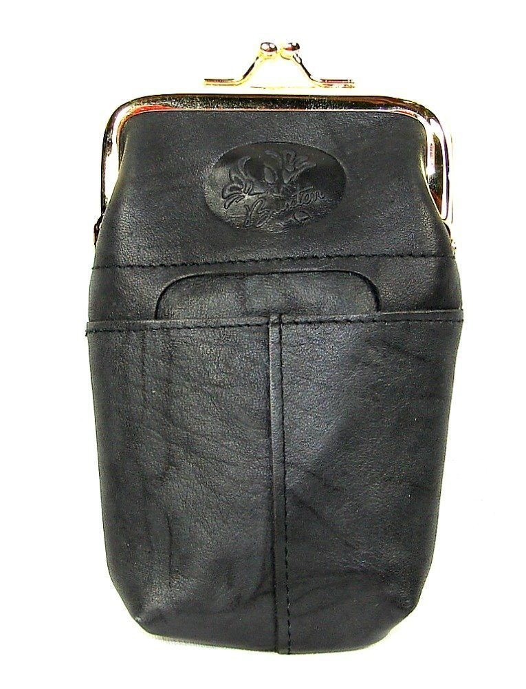 Buxton Heiress Black Leather Cigarette Case with Lighter Pocket,One Size