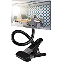 Gosear Flexible Clip on Cubicle Computer Desk Monitors Rearview Security Convex Mirror Field Vision Magnifying (Square)