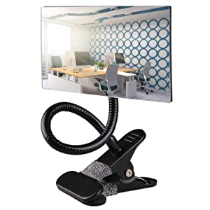 Gosear Office Clip On Cubicle Mirror, Computer Rearview Mirror, Convex Mirror for Personal Safety and Security Desk Rear View Monitors or Anywhere (Rectangle)
