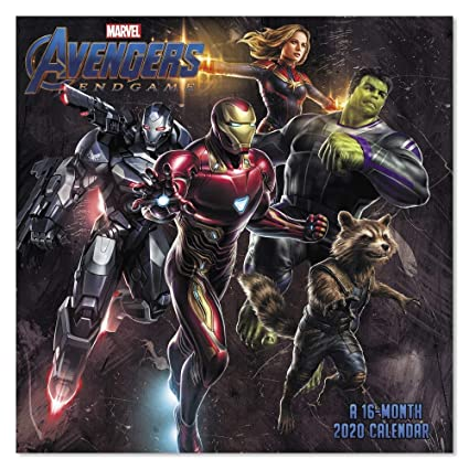 Marvel Calendar 2020 Amazon.: 2020 Marvel Avengers: Endgame Wall Calendar, Mini