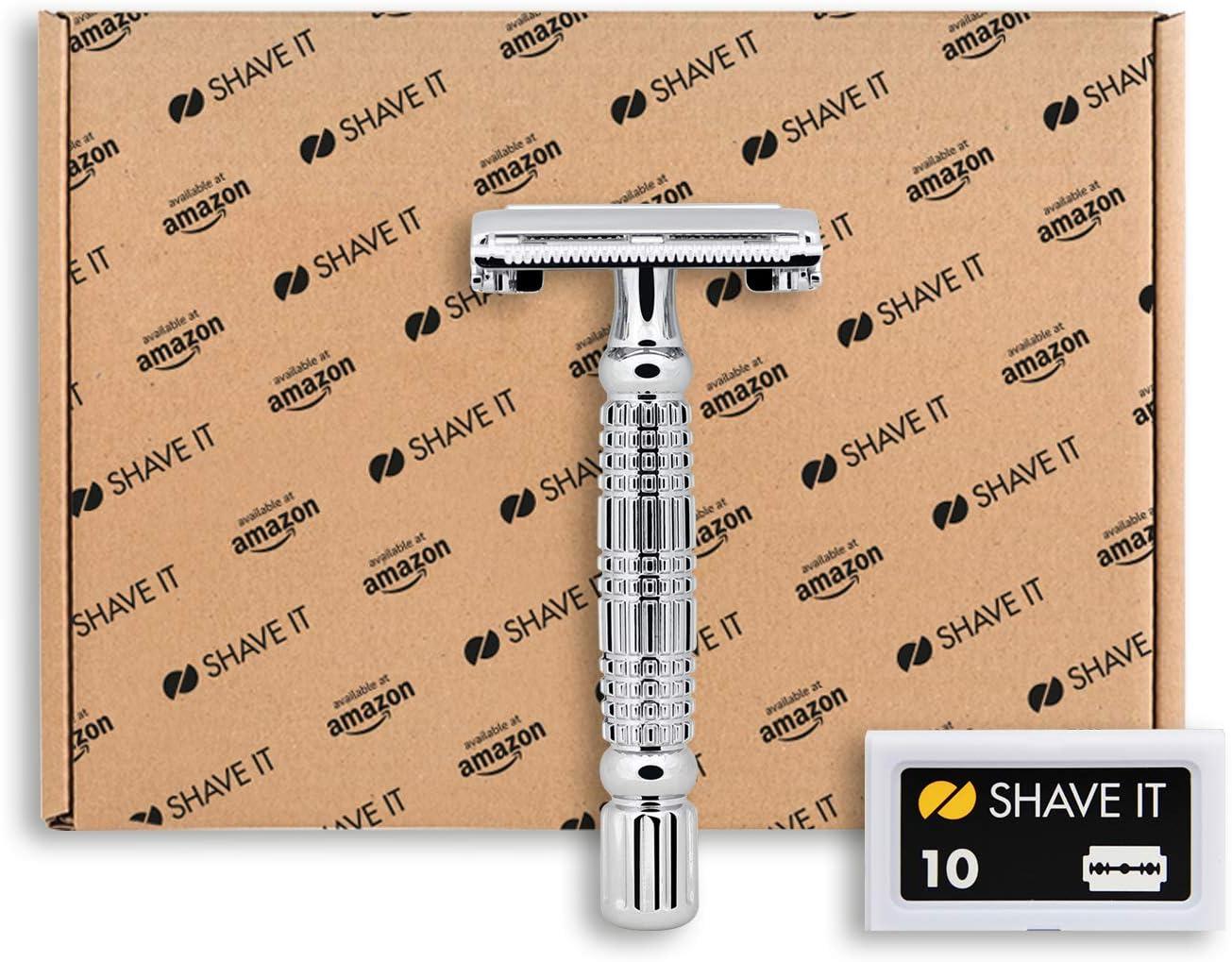 Shave It - Kit de viaje con maquinilla de afeitar y 10 cuchillas