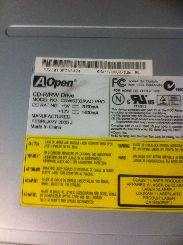 Chameleo Aopen CRW 5232//AAO 5.25 Inch IDE CD-rw Drive Internal Aopen