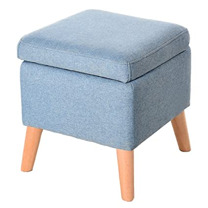 Amazon.com: ZRX-Footstool Solid Wood Shoes Bench Living Room ...