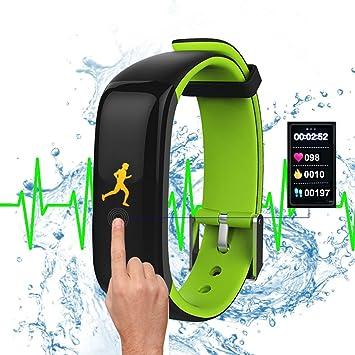 roguci resistente al agua 0.96 pulgadas grande colores OLED pantalla Tracking Fitness Reloj de pulsera con corazón rfrequenz Medición y – ...