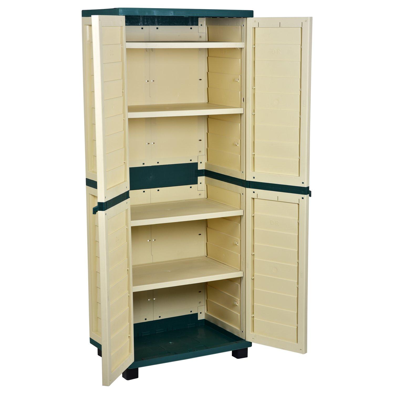Catral 63010004 - Armario 4 estantes, 75 x 52.5 x 187 cm, color marrón