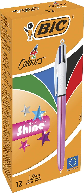 BIC 951352 4 colores shine – Bolígrafo, color rosa metálico cuerpo ...