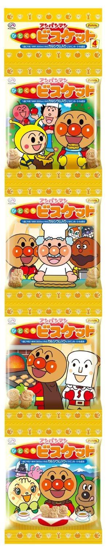Fujiya Anpanman Butter Biscuit Bags, 2.81 Ounce