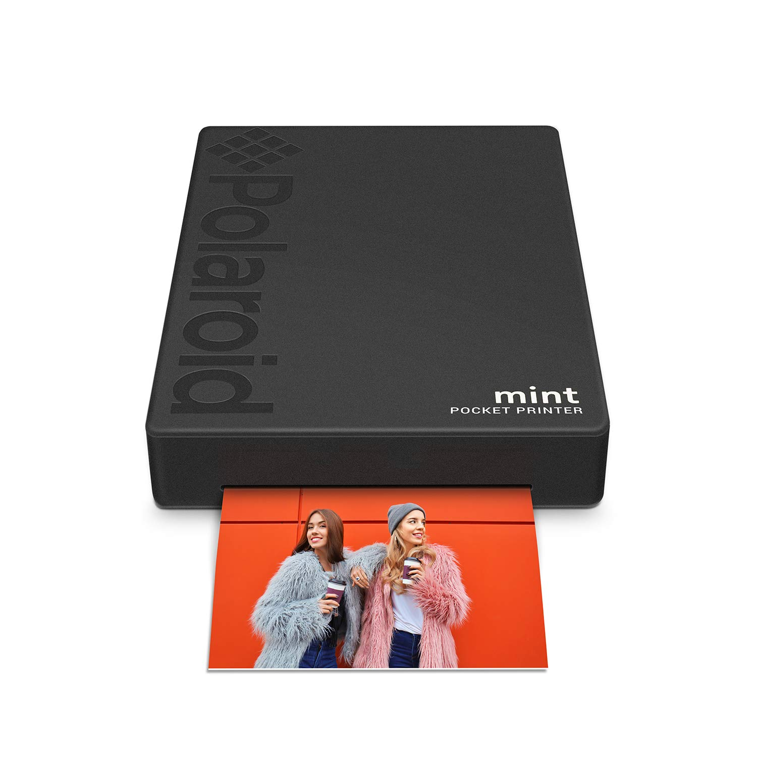 Polaroid Mint Pocket Printer W/Zink Zero Ink Technology & Built-in Bluetooth for Android & iOS Devices - Black POLMP02B
