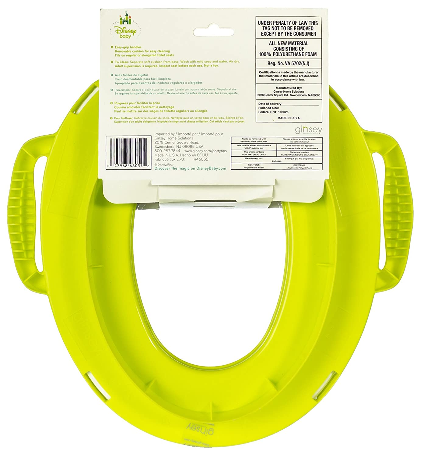 Amazon.com : Monsters University Soft Potty Seat with Handles Disney Baby : Toilet Training Seat Covers : Baby