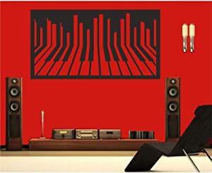 """Metal Wall Art, Metal Piano Wall Art, Music Decor, Interior Decoration, Home Office Wall Hangings, Music Lover Gift (39""""W x 21""""H / 100x53 cm)"""