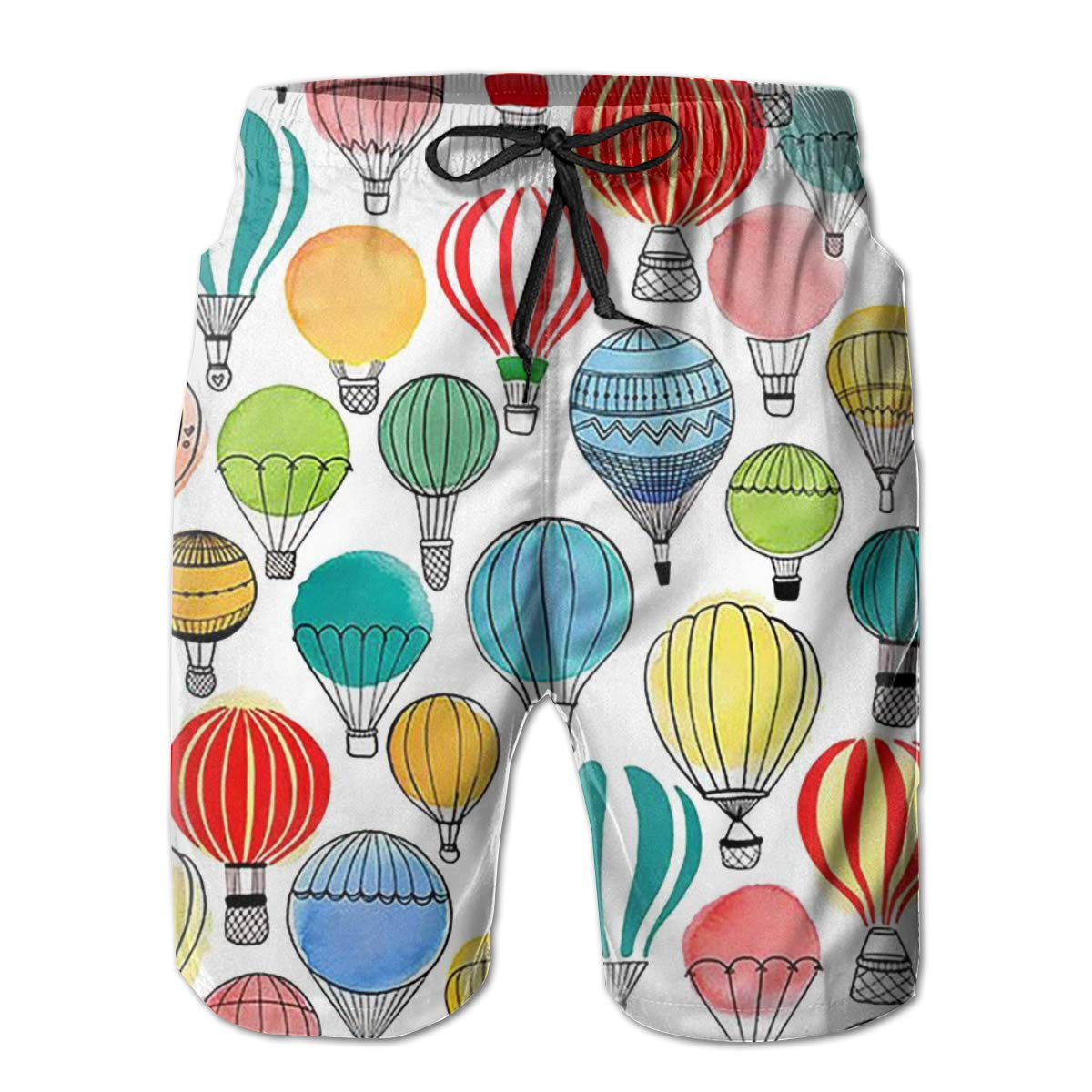WWT Balloon Mens Fashion Beach Shorts with Mesh Lining//Side Pockets