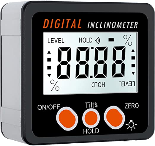 2 in 1 LCD Display Digital Angle Finder Electronic Protractor Level Inclinometer